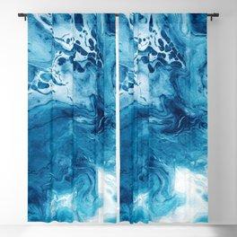 Abstract Acrylic Sea Blackout Curtain