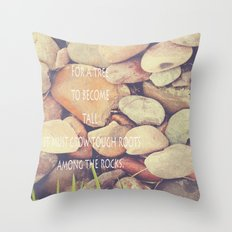Rocks with words Throw Pillow