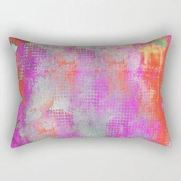 Colorful Abstract Artwork Original Painting Rectangular Pillow