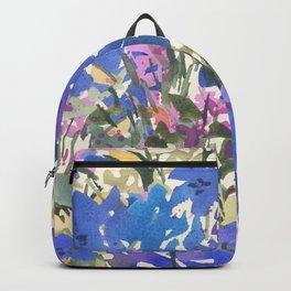 Blue Periwinkle Wildflowers Backpack