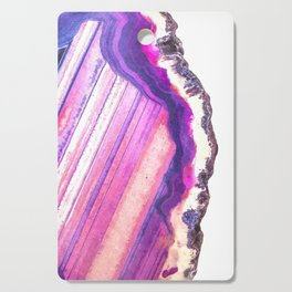 Druze violet agate Cutting Board