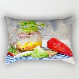 Lunch in a glass Rectangular Pillow