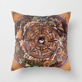 Progress Mandala Throw Pillow