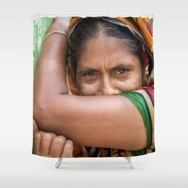 Colors of hidden smile Shower Curtain