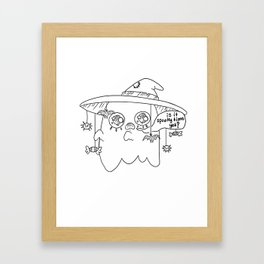 Impatient Ghosty Framed Art Print