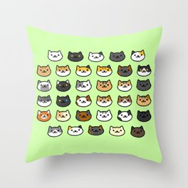 CAT BACKYARD v2 Throw Pillow