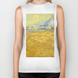 "Vincent van Gogh ""Wheat Field behind Saint Paul Hospital with a Reaper"" Biker Tank"
