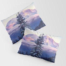 Glorious Beginning sunrise on Mount Shasta Pillow Sham