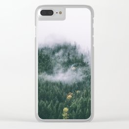 Forest Fog XVII Clear iPhone Case