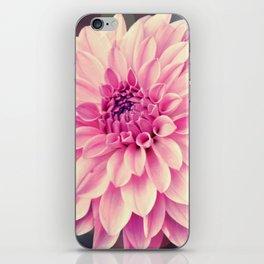 Pink Dahlia bokeh effect iPhone Skin