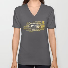 Typography programming Unisex V-Neck