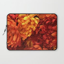 Autumn Red and Fall Orange Breathtaking Flowers Laptop Sleeve
