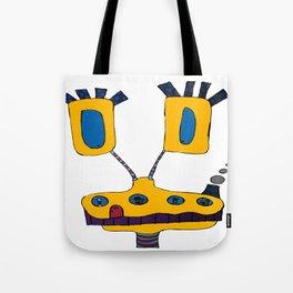 yellow submarine giraffe Tote Bag