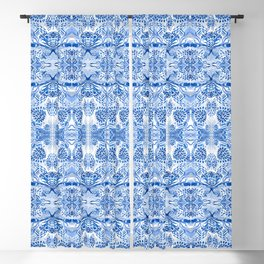 Blue on white dubble exposed Blackout Curtain