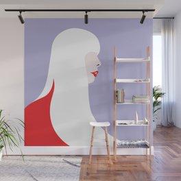 Joni Mitchell (red) Wall Mural