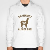 hiking Hoodies featuring Go Hiking? Alpaca Bag! by AmazingVision