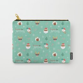 Black Mr. and Mrs. Santa Carry-All Pouch