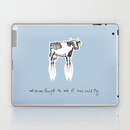 and no-one thought to ask if cows could fly Laptop & iPad Skin