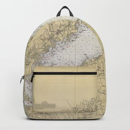 Vintage Map of The Long Island Sound (1934) Backpack