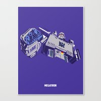 transformers Canvas Prints featuring Transformers - Megatron by Evan DeCiren