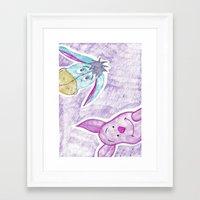 eeyore Framed Art Prints featuring eeyore and piglet by Art_By_Sarah