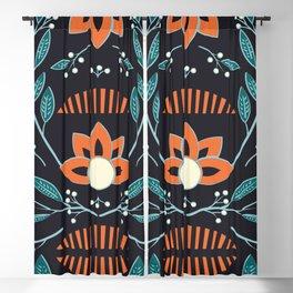 Dark flora 001 Blackout Curtain