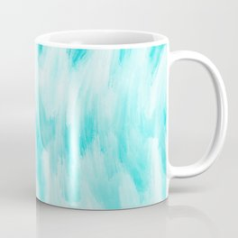 Arctic Aqua Ice Abstract Coffee Mug
