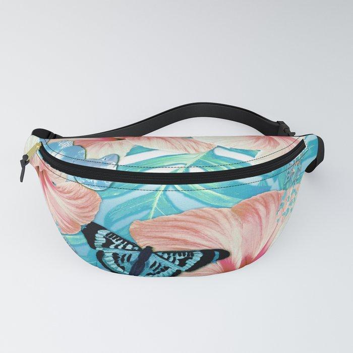 Tropical Spring Aqua Fanny Pack