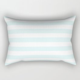 pastel mint stripes Rectangular Pillow
