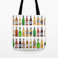 beer Tote Bags featuring BEER by BearandBugle