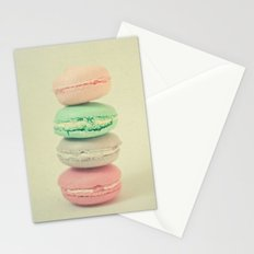 Four Macarons Stationery Cards