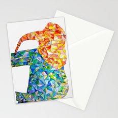 acute elephant Stationery Cards