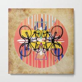 Triangle Bicycles Metal Print