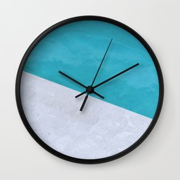 Poolside Playdate Wall Clock