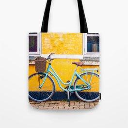 Bike and yellow Tote Bag