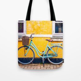 Bike and yellow Tote Bag