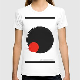black and white meets red version 17 T-shirt