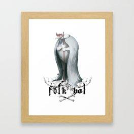 Folkbol C Framed Art Print