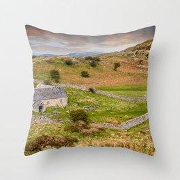 St Celynnin Church Wales Throw Pillow