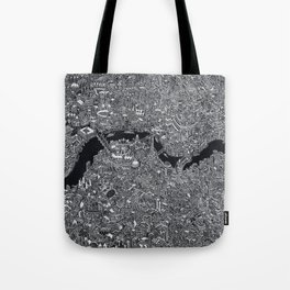 London map black and white Tote Bag