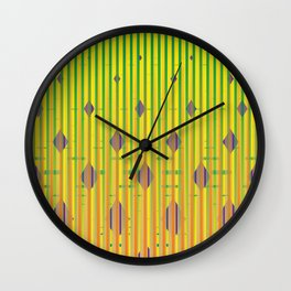 wildly yellow Wall Clock