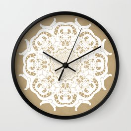 Venetian lace circular ornament Wall Clock