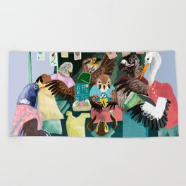A day in the market Beach Towel