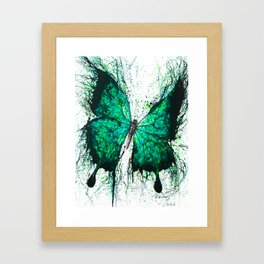 Night Garden Butterfly Framed Art Print