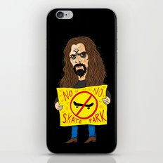 Zombie VS Skatepark iPhone & iPod Skin