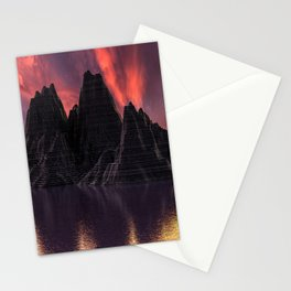 Sunset Mountains Stationery Cards