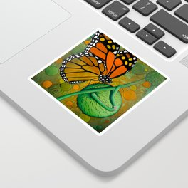 Monarch & Swan Plant Sticker