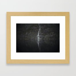 Waterfall (The Unknown) Framed Art Print