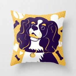 Cavalier King Charles Spaniel: Friends Fur-ever Throw Pillow