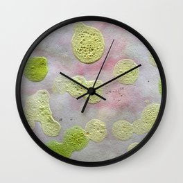 Green dots Wall Clock